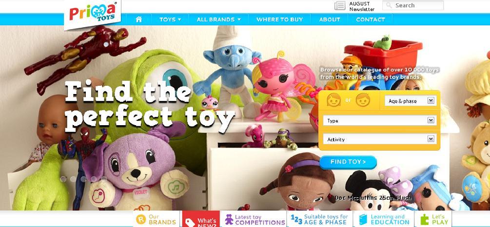 Prima Toys Website