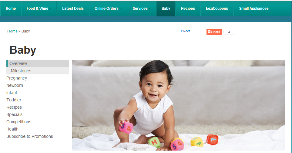 checkers baby website