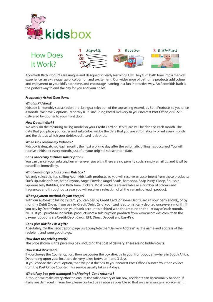 Kidsbox Info