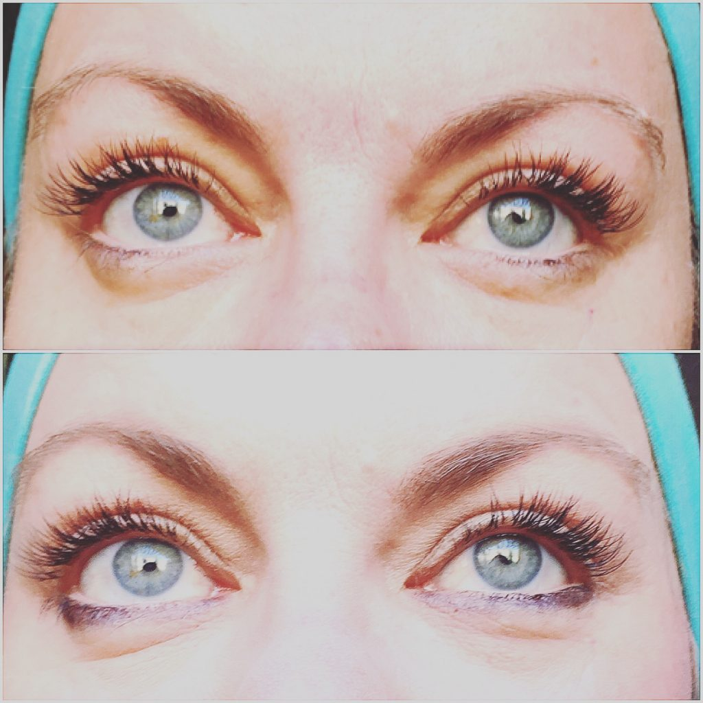 With lash extensions, top without make up!