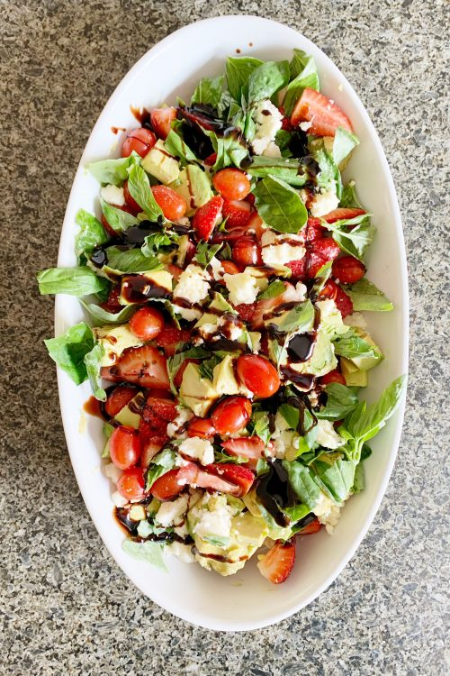 Avo & Strawberry Caprese Salad